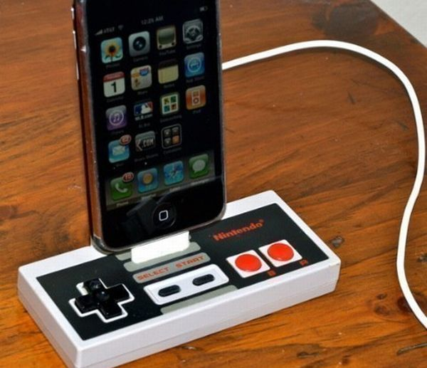 iPod dock from NES controller