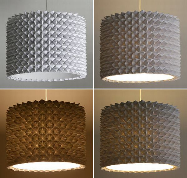 Large Faceted Drum Shade