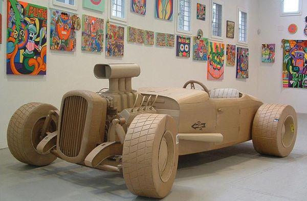 Life like cardboard automobiles