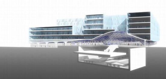 mecanoo proposes green design for delft city hall