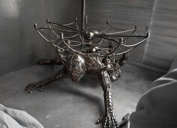 Metal spiderman table