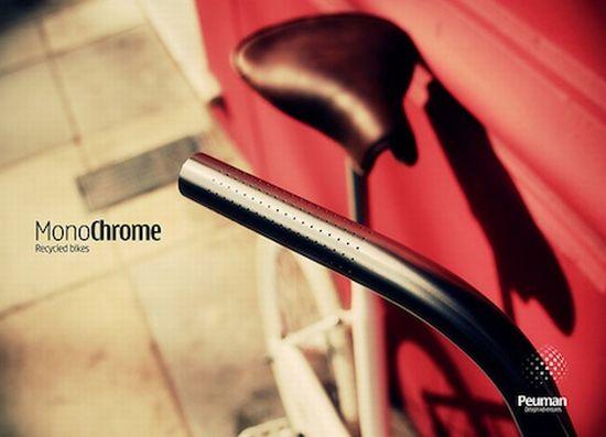 monochrome recycled bikes 2