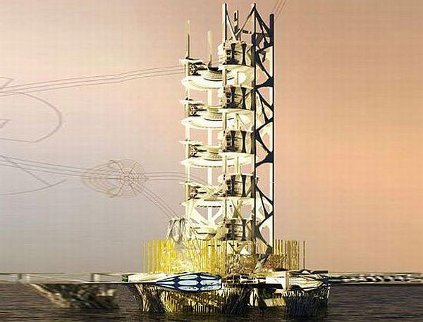 Off-shore vertical farm concept
