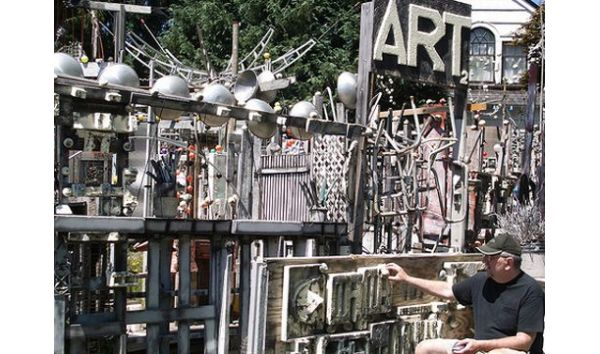 Outdoor gallery consisting of stunning sculptures