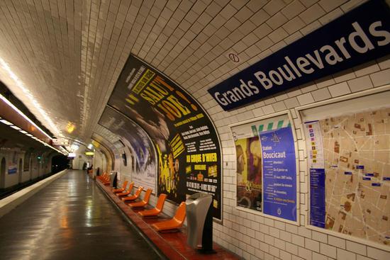 paris subway trains and riders to heat apartment b