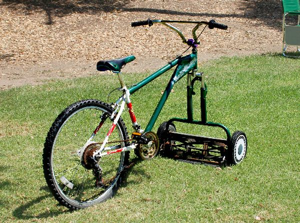 Pedal-Powered Lawnmower