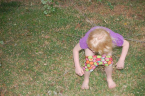 Pee in the backyard