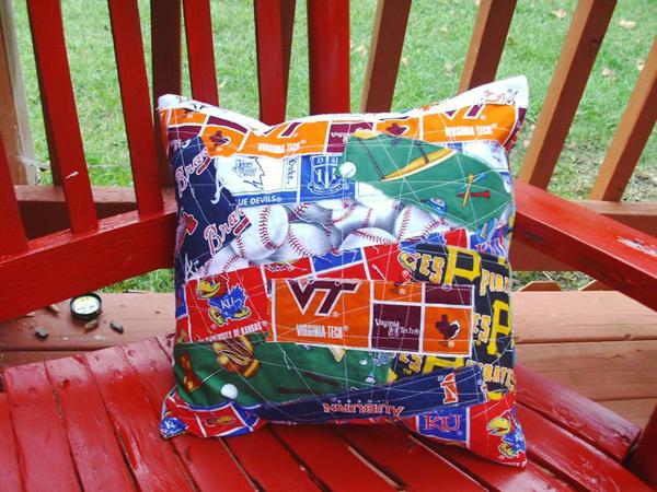Pillow made of fabric scrap