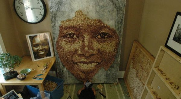 Portraits Made From Thousands of Repurposed Wine Corks