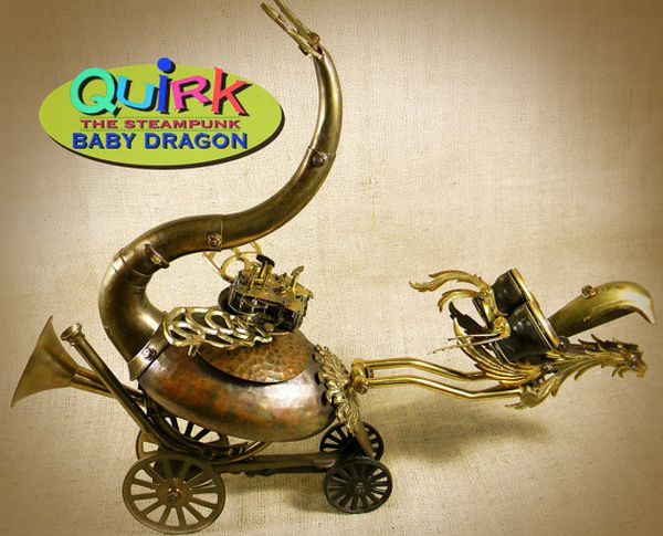 QUIRK  the Steampunk Baby Dragon