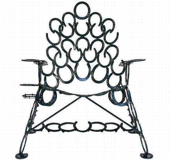 reclaimed horseshoe chair 1