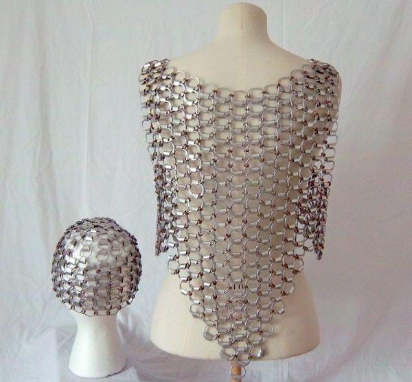 recycked pop tops vest and cap1