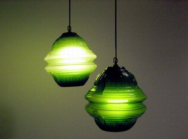 recycled beer bottle lamp 1