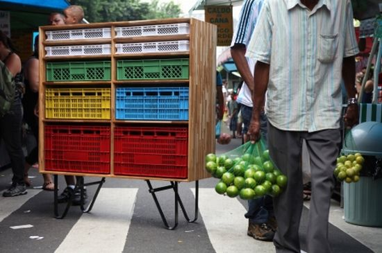 recycled shipping plastic crate furniture 3