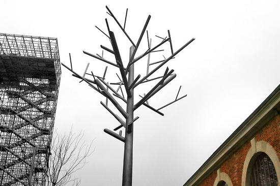 recycled steel tree sculptures didier muller 2