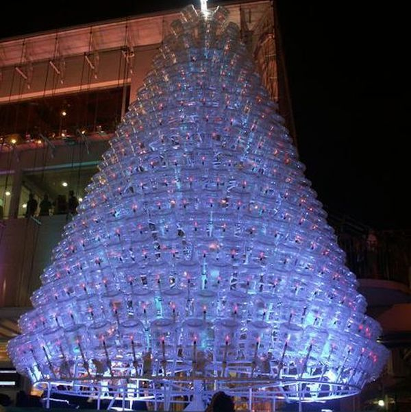 Recycled 5 Gallon Water Bottles Christmas tree