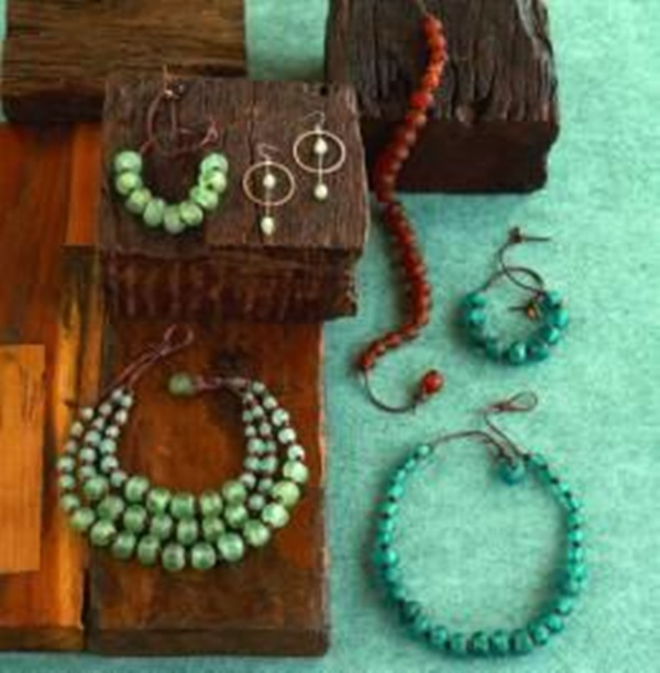 Recycled Glass Bead Jewelry