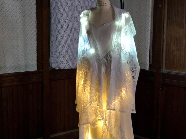 Recycled LED lit wedding gown 1