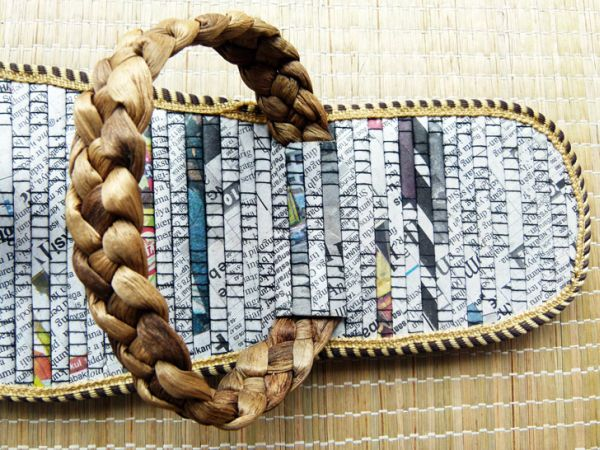 Recycled Newspaper Flip-Flops 2