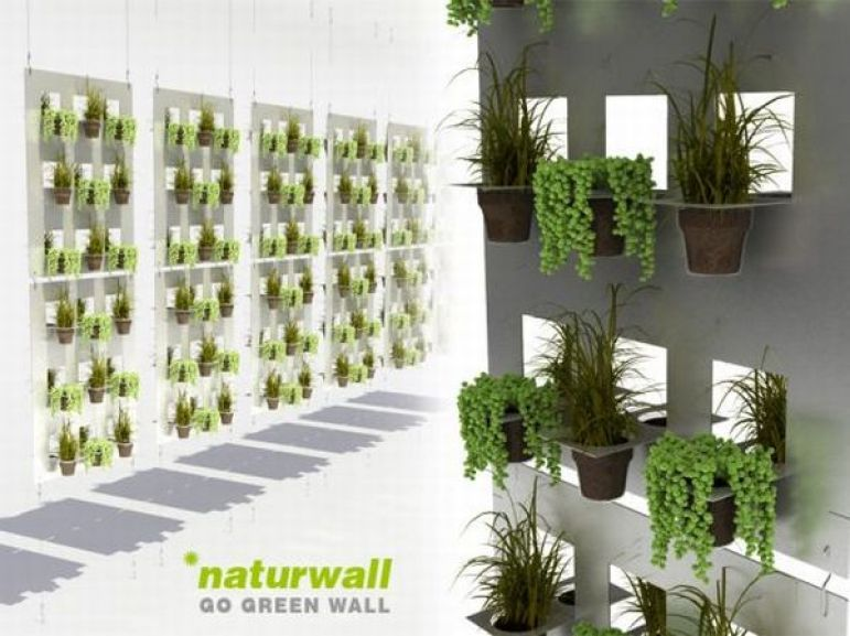 Recycled plastic cup vertical wall