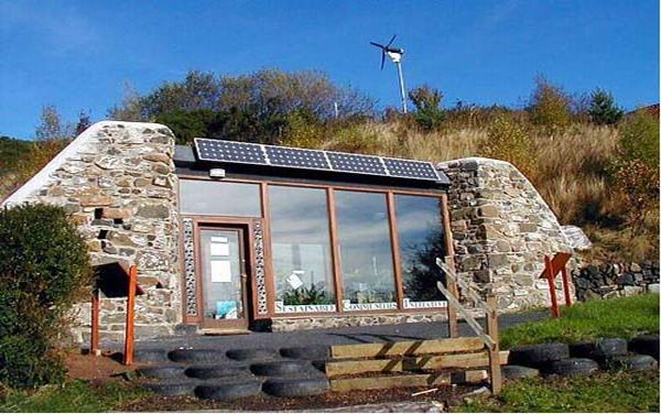 recycled tires house