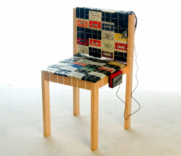 retro cassette tape chair 1