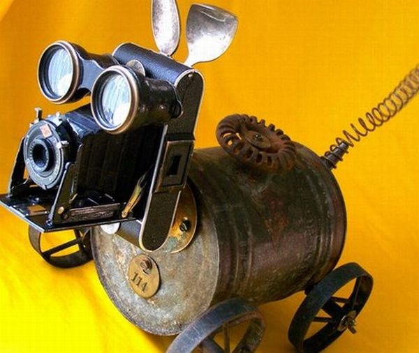 Robot from recycled material