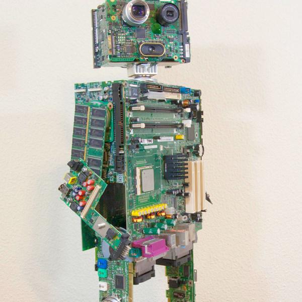robot made of junk