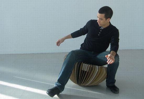rocking cardboard chair10