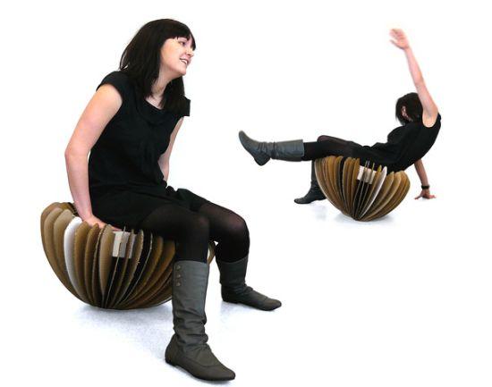 rocking cardboard chair1