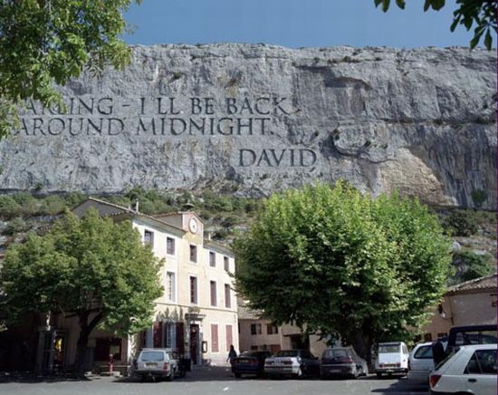 rocky messages by wim delvoye