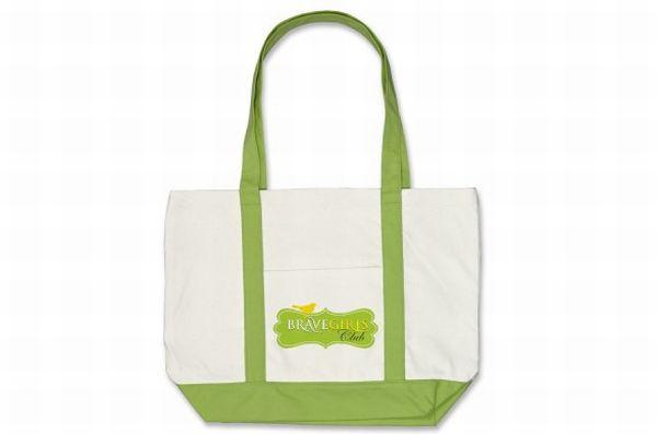 RSP Girls green tote bag