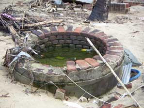 salt water logged sri lankan wells