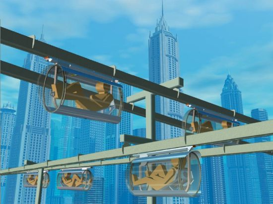 shweeb monorail for human powered vehicles 4