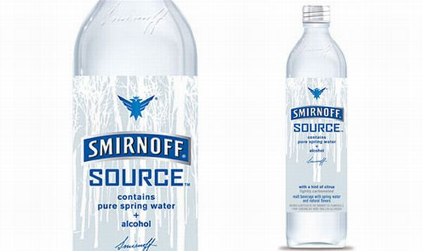 Spring water + alcohol