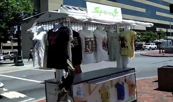 Spritex solar powered T-shirt cart