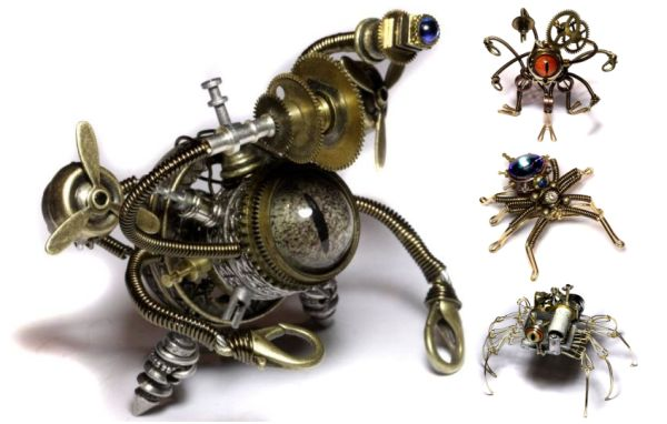 Steam punk sculpture of Daniel Proulx