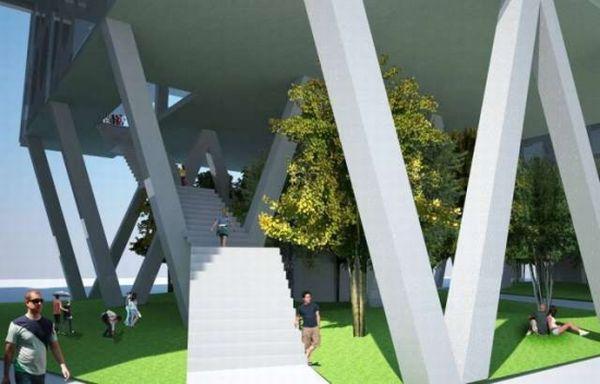 Sustainable vertical farm concept