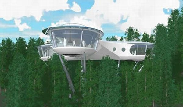 biggest treehouses in the world sybarites modular tree dwelling - Biggest House In The World 2012