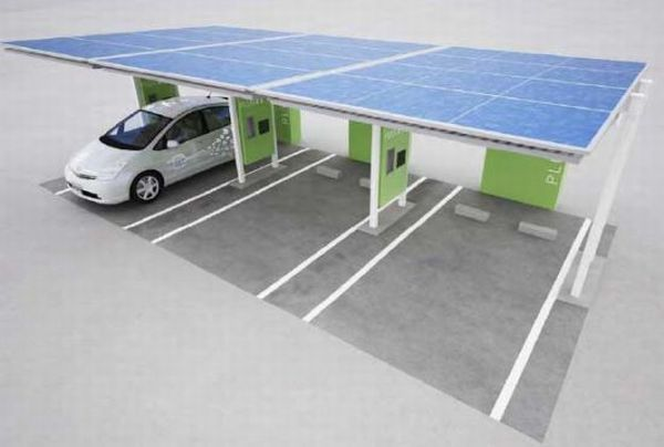 Toyota's solar-powered EV charging stations