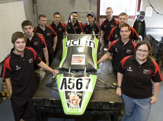 uclan green car for 2010 formula student competiti