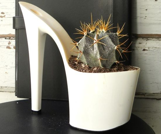 upcycled stiletto planters 2