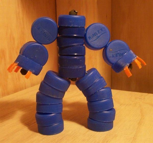 Upcycled trash toy