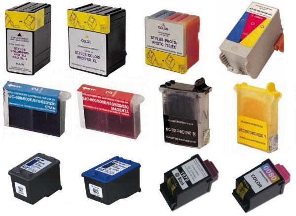 Used ink cartridges