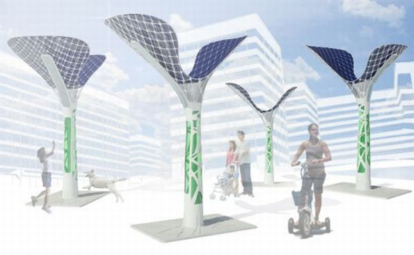 warp solar energy generating sculpture