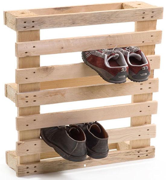 Wooden Pallet Shoe Rack