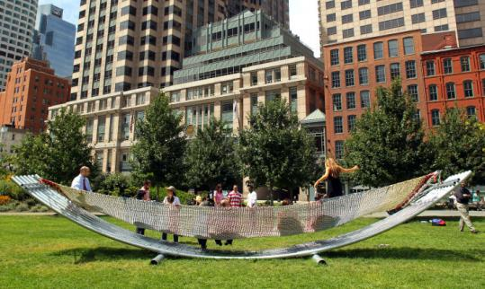 worlds largest hammock created from recycled plast
