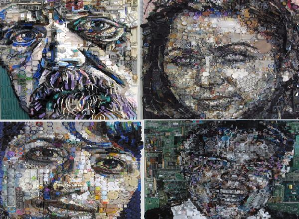 5 Most Amazing Portraits Made Using Recycled Materials