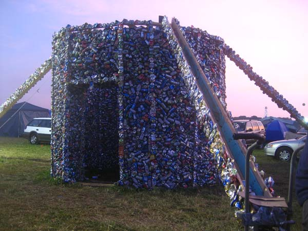 Incredible A House Made Of Recycled Drink Cans Cheers Green Diary Interior Design Ideas Philsoteloinfo