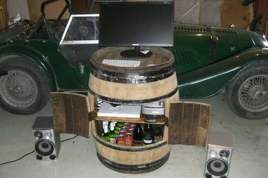 How To Turn An Old Wine Barrel Into A Trendy Cabinet